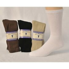 12 Pairs Sole Pleasers Diabetic Comfy Stretch Fit Crew Tube Socks for Men/Women