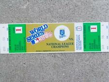 1985 World Series Full Unused Tickets - Game 1 - Plaza Reserved Seat