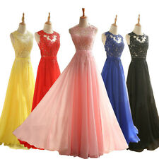 Long Chiffon Formal Prom Gown Party Evening Formal Cocktail Bridesmaid Dress