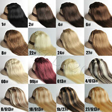 "20"" 15Colors 7pcs/set​ 70g Clip in Human Hair Extensions Black Blonde Brown Hair"