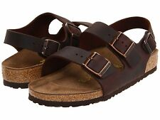 Men's Birkenstock Sandals Milano Brown Habana Oiled Leather Reg