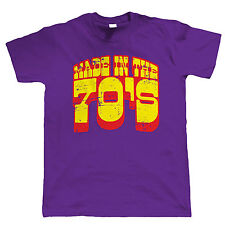 Made In The 70s Mens Funny 40th Birthday T Shirt