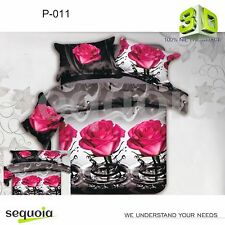 3D Effect Flowers Duvet Cover 3/4pcs Bedding Set Double Gift For Any Occasion