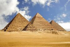 Pyramids at Giza Egypt Large Canvas Picture Wall Art