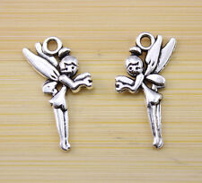 30/60/100 pcs Very lucky angel Tibet silver charms charm pendant  25x15 mm