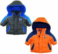 iXtreme Baby Boys Newborn Rip Stop Fleece Lined Hooded Winter Puffer Jacket Coat