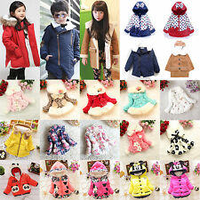 Toddler Baby Girls Kids Hooded Jacket Coat Winter Warm Snowsuit Outwear Clothes