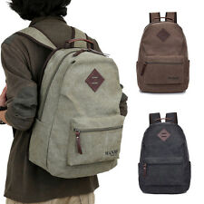 Men's Vintage Backpack Rucksack Laptop Shoulder Travel Camping Bag Canvas Bags