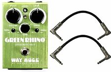 Way Huge WHE207 Green Rhino Overdrive MKIV Stomp Box w/ 2 Patch Cables