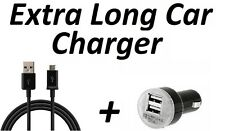 RAPID CAR CHARGER + 6FT  EXTRA LONG CABLE FOR SAMSUNG GALAXY S3 S4 S5 S6 S7 EDGE
