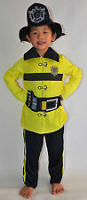 NEW Boy Fire Fighter dress up Costume Set Size S,M,L (age 5-14)