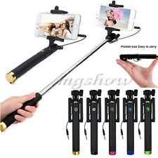 Extendable Handheld Wired Monopod Selfie Stick Holder For iPhone Samsung Android