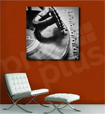 Gramophone Close Up Turntable Music Canvas Art Poster Print Home Wall Decor
