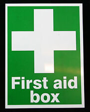 first aid box vinyl sticker, health and safety, factory joblot wholesale x10