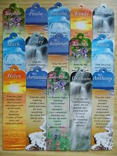 A Names Personalised Name Bookmark Bookmarks For Books Small Reading Gift Ideas