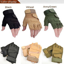 Outdoor Half Finger Gloves Military Tactical Airsoft Hunting Riding Cycling zm