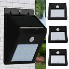 6-16 LED Solar Power Sensor Wall Light Security Motion Weatherproof Outdoor Lamp