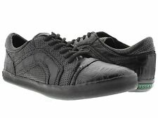 mens genuine crocodile alligator black leather tennis shoes exotic casual rubber