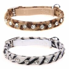 ANIMAL PRINT COLLAR - LEOPARD or ZEBRA (Cat/Puppy)
