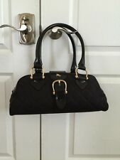 BURBERRY BLACK NYLON QUILTED SATCHEL HANDBAG NWOT