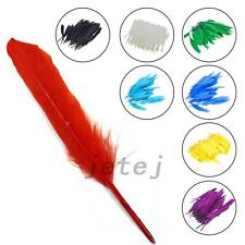 100pcs Fashion Colroful Natural Goose Feather 4-6 inches Wedding Decor