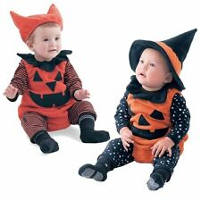 Baby Boy Girl Christmas Pumpkin Costumes Fancy Dress Party Outfit+HAT Set 3-24M