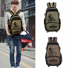 Backpack Canvas Bag Men's Vintage Rucksack Shoulder Travel Camping Bag Laptop