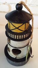Birdhouse Lighthouse Home & Garden Decor Replica Sturdy Painted Resin Twine New