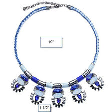 MARNI H&M Blue Crystal Necklaces