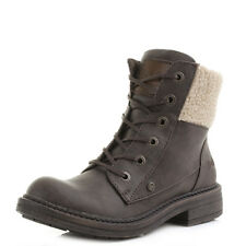 Womens Blowfish Fader Brown Faux Shearling Military Ankle Boots Shu Size