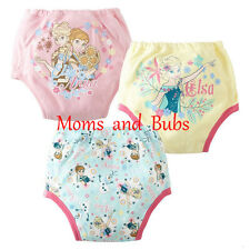 Potty Training Pants Baby Kids Reusable Anna and Elsa Multicolour 3 Pack Set