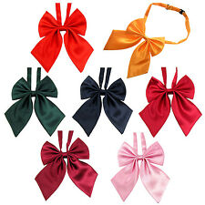 Dard Red Women Adjustable Pure Color Women's Bow Tie YM