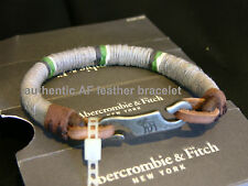 Abercrombie & Fitch vintage colourful wrapped leather bracelets NIB authentic
