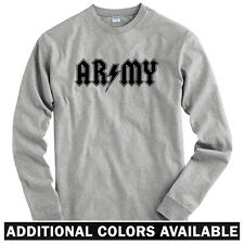 Army Rocks Long Sleeve T-shirt - LS Men S-4X - Gift Grunt Infantry Military US