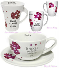 PERSONALISED BONE CHINA Pretty Pansy Gift Idea For TEA Her Birthday Thank You