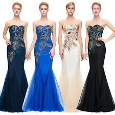 Strapless Evening Wedding Bridesmaid Gown Sexy Mermaid Cocktail Prom Dress Gown
