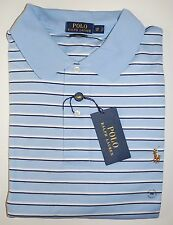 Polo Ralph Lauren Shirt Pima Soft Touch Blue Stripe NWT $98 Big & Tall