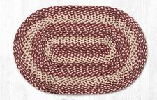 "Capitol Earth Rugs Cherry Cheesecake Jute Braided Oval Rug C-508 20""x30"
