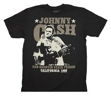 Men's Johnny Cash San Quentin Stars T-Shirt Officially Licensed