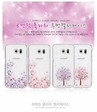 Romantic Dry Flower Printing Jelly Case Sakura, Clear Soft Case for iPhones