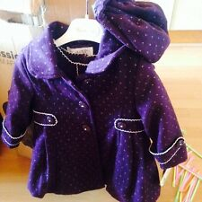 Couche Tot Outfit 12-18 Girls Dress Coat & Hat