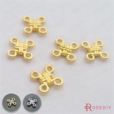 50PCS 11*11MM Chinese knot Connector Charms Jewelry Findings Accessories 2724