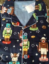 MEN'S NICK & NORA NUTCRACKER FLANNEL PAJAMA SET NWT SIZE MEDIUM, LARGE