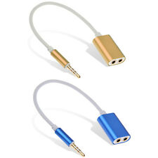 Gold Plated 3.5mm Stereo Male to 2 Female Jack Audio Adapter Splitter Cable Cord
