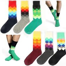 1 Pair Cotton Socks Multi-Color Fashion Dress Mens with Full Cotton