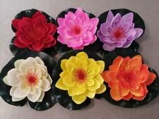 4x Artificial Wedding Flowers, Floating Pond Water Lily Lotus - 17cm (6 Colours)