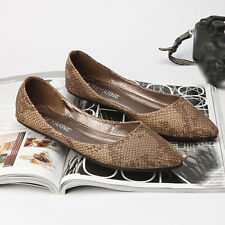 Europe Style Womens Shoes Snake-effect embossing Pointed-toe Pumps Court Shoes