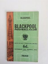 1960's  Blackpool  Football Programmes - Various Fixtures