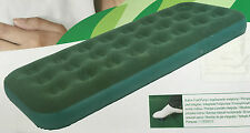 NEW SINGLE/DOUBLE INFLATABLE FLOCKED AIR BED WITH BUILT IN PUMP CAMPING MATTRESS