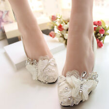 Lace Butterfly Wedding Prom Bridal shoes High Heels Low Heels Flat Party Shoes